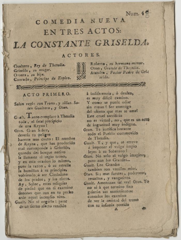Queens College. Constante Griselda, t.p.