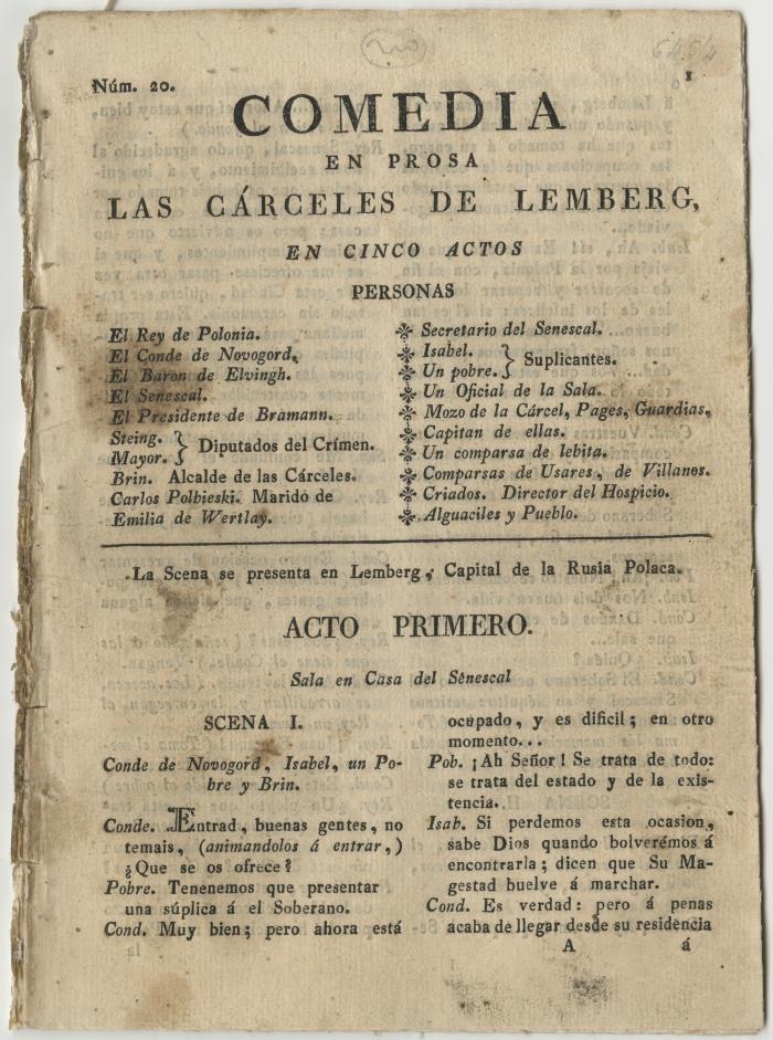 Queens College. Cárceles de Lemberg, title page