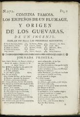 Los empeños de un plumage y origen de los Guevaras :