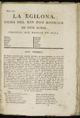 La Egilona, viuda del rey Don Rodrigo :