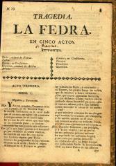 Tragedia La Fedra.