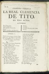 La real clemencia de Tito :