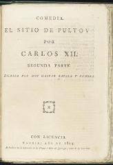 El sitio de Pultov por Carlos XII.
