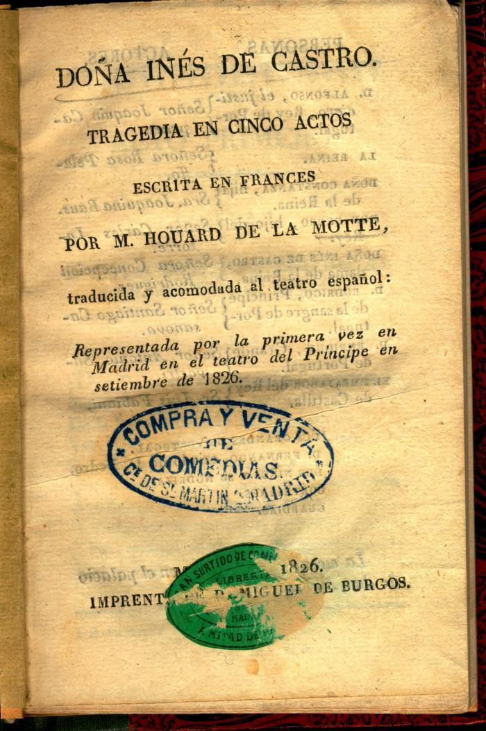 Doña Inés de Castro :