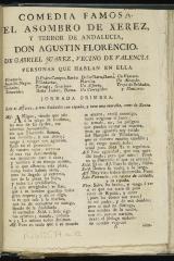 El asombro de Xerez y terror de Andalucia, Don Agustín Florencio /