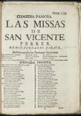 Las missas de San Vicente Ferrer :