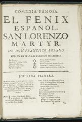 El fenix español, San Lorenzo Martyr /