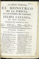 El monstruo de la fortuna, la lavandera de Napoles, Phelipa Catanea /