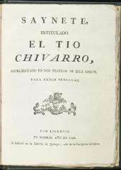 El tio Chivarro /