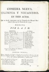 Olimpia y Nicandro :