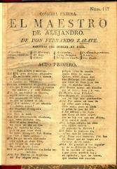 Comedia famosa  El maestro de Alejandro.