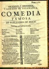 Obligados, y ofendidos, y gorron de Salamanca :