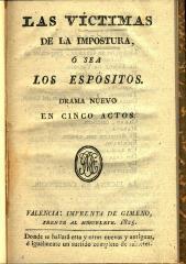 Las víctimas de la impostura ó sea Los espósitos :