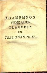 Agamemnon vengado :