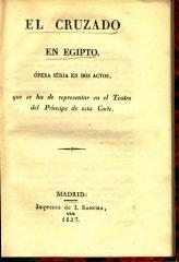 El cruzado en Egipto :