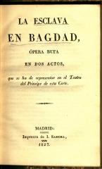 La esclava en Bagdad :