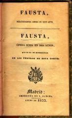 Fausta : melodramma serio in due atti / Fausta :