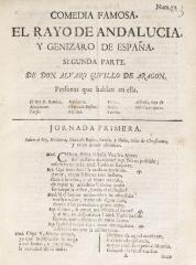 Comedia famosa. El rayo de Andalucía, y genizaro de España.