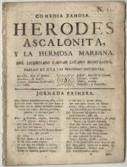 Comedia famosa. Herodes Ascalonita y la hermosa Mariana /