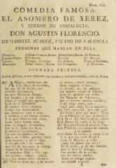 El asombro de Xerez, y terror de Andalucia, don Agustin Florencio /