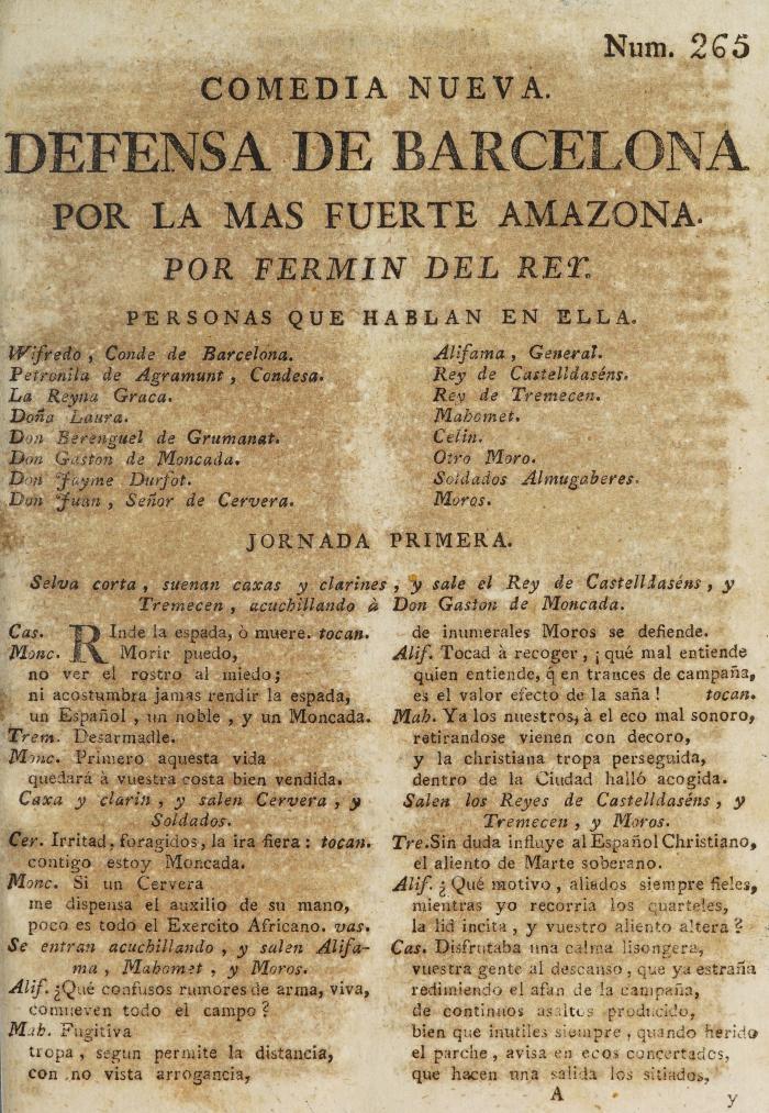Defensa de Barcelona por la mas fuerte amazona /