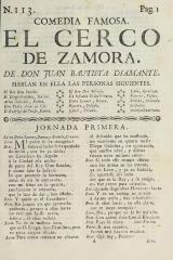 El cerco de Zamora /