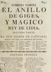 El anillo de Giges, y magico rey de Lidia.