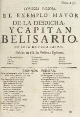 El exemplo mayor de la desdicha, y capitan Belisario /