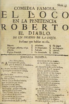 El loco en la penitencia, Roberto el diablo /