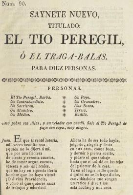 Saynete nuevo, titulado El tio Peregil, ó El traga-balas :