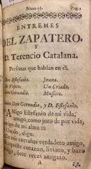 Entremes del Zapatero, y D. Terencio Catalana..