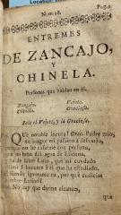 Entremes de Zancajo, y Chinela.