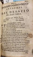 Entremes del desafio de Juan Rana.
