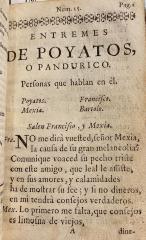 Entremes de Poyatos, o Pandurico..