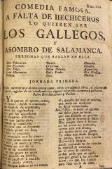 Comedia famosa. A falta de hechiceros lo quieren ser los Gallegos, y asombro de Salamanca.