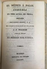 El médico à Palos. comedia en tres actos, en prosa /