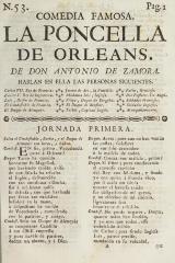 La poncella de Orleans /