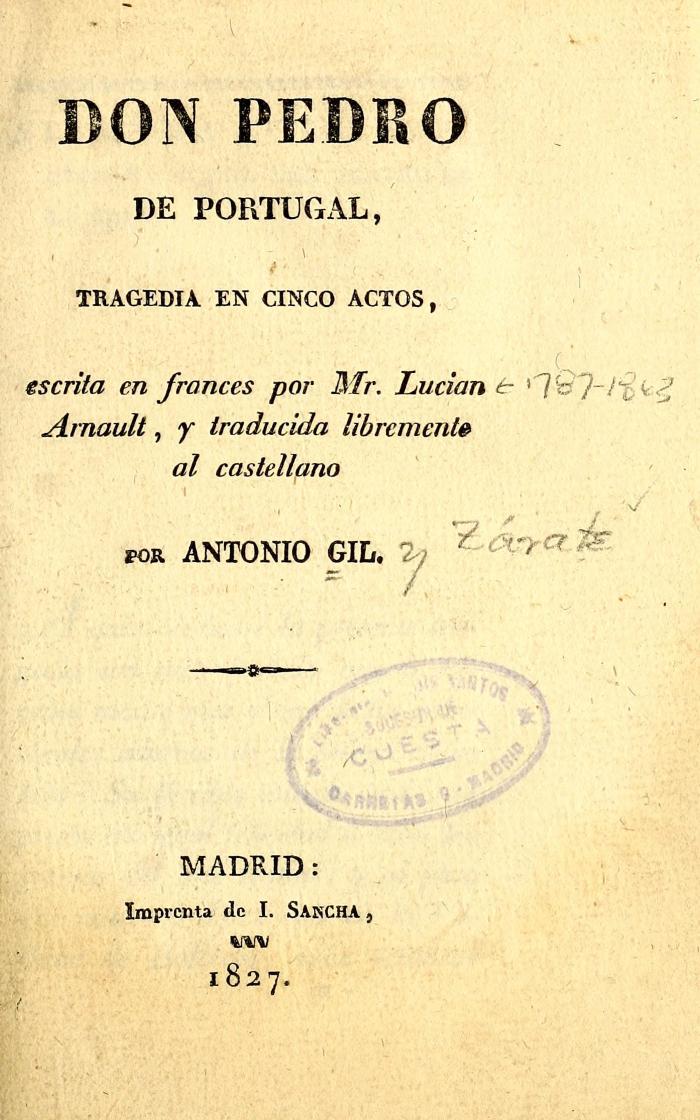Don Pedro de Portugal :