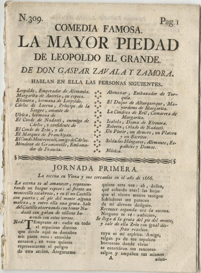 Queens College. Mayor piedad de Leopoldo el Grande, t.p.