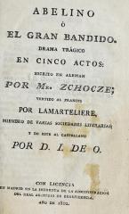Abelino, o, El gran bandido: