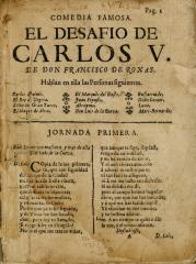 El desafío de Carlos V :