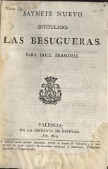Saynete nuevo intitulado: Las besugueras.