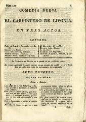 El carpintero de Livonia :