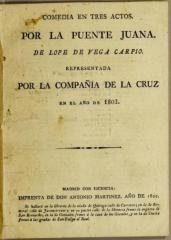 Comedia en tres actos, Por la puente, Juana, /