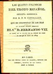 Las quatro columnas del trono español :