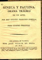 Seneca y Paulina : drama trágico en un acto :