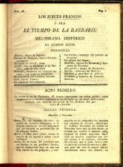 Los jueces francos ó sea El tiempo de la barbarie :