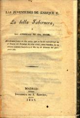 Las juventudes de Enrique V. La bella tabernera, ó Las aventuras de una noche :