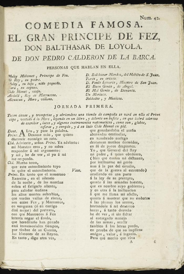 El gran príncipe de Fez, don Balthasar de Loyola :