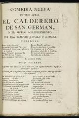 El calderero de San Germán, o, El mutuo agradecimiento :
